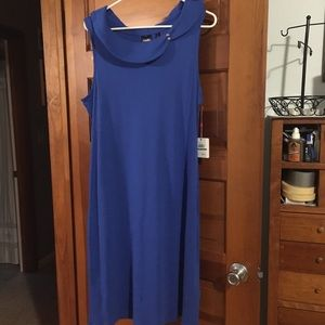 100% cotton Royal blue stunning dress